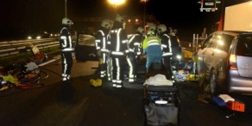 Gewonden na aanrijding op A12 bij knooppunt Rijnsweerd