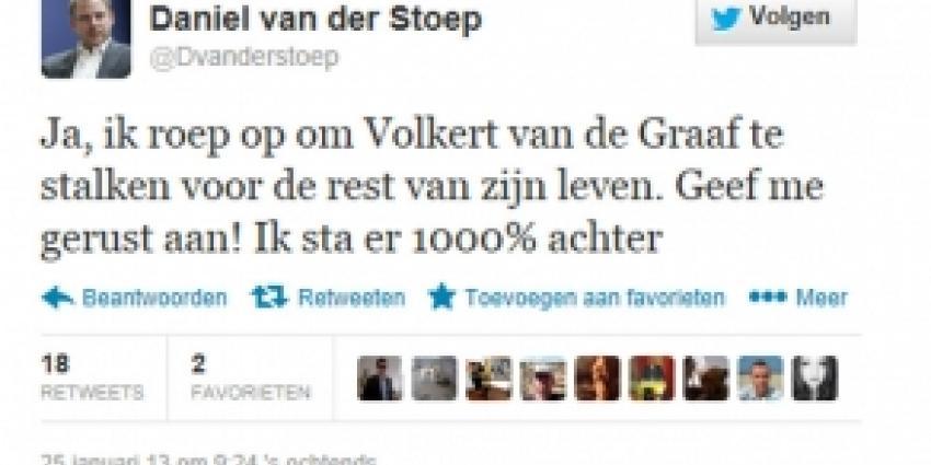Europarlementariër Daniël van der Stoep roept op Volkert te stalken