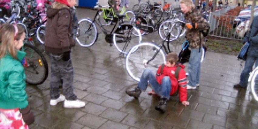 Veel valpartijen door spekgladde voet- en fietspaden
