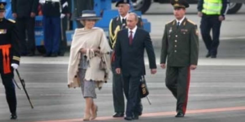Bezoek Vladimir Poetin rustig verlopen. Één arrestatie