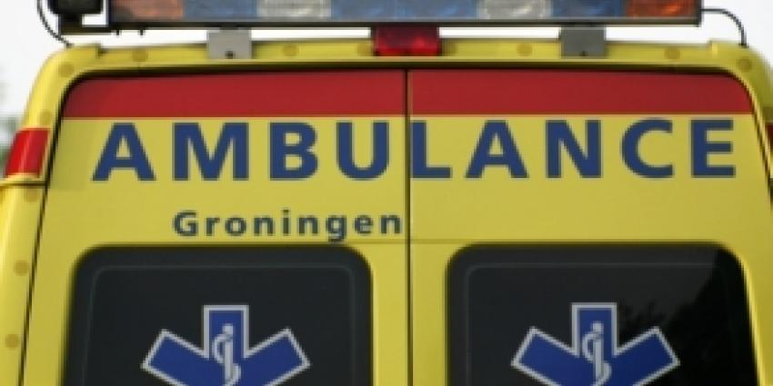 Vrouw gewond na kettingbotsing