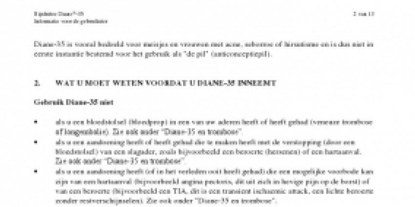 Nederlandse vrouwen mogelijk overleden door gebruik Diane-35 pil