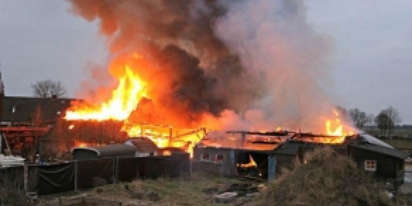 Brand verwoest boerderij in Erp