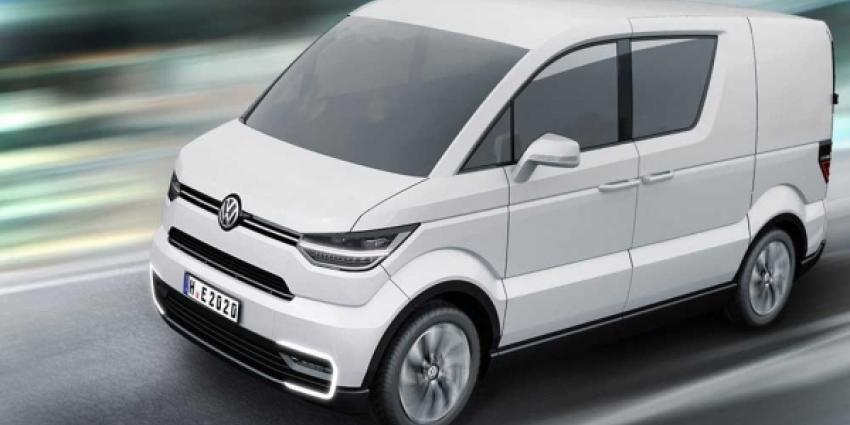 VW onthult volledig elektrische Transporter in Genève