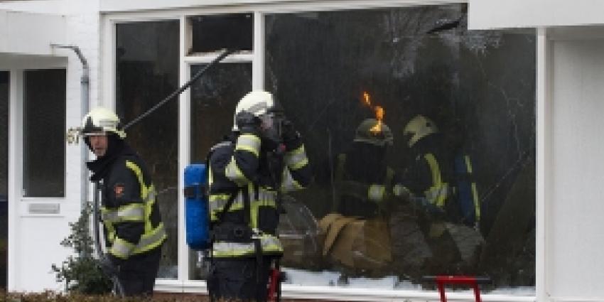 Kat gered bij woningbrand in Schijndel