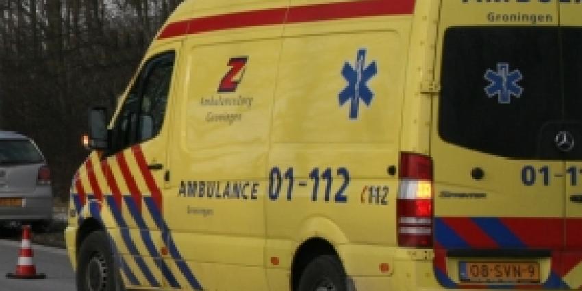 Man in scootmobiel gewond bij ongeval