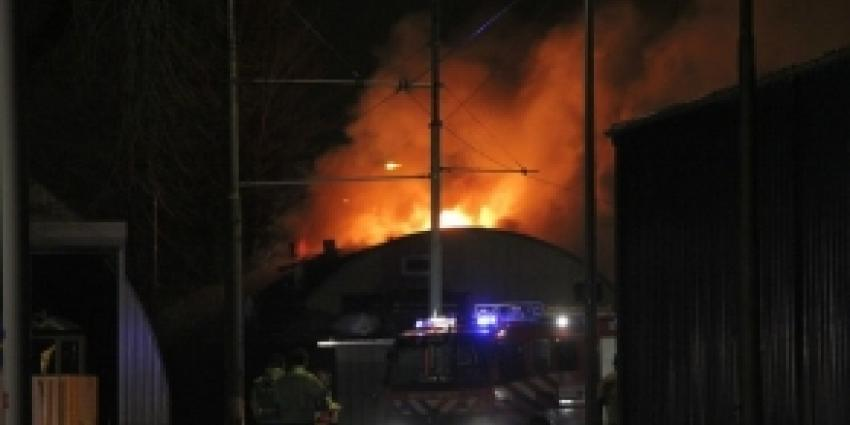 Loods afgebrand in Havenstraat