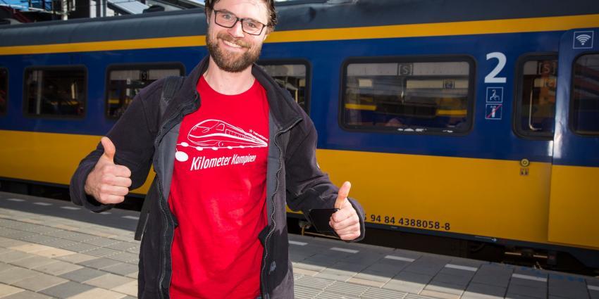 Man reist 1539 kilometer met de trein in 24 uur