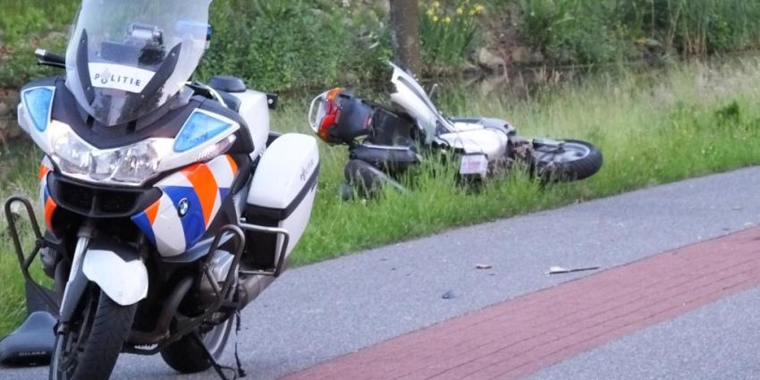 Bestuurder scooter te water tijdens achtervolging