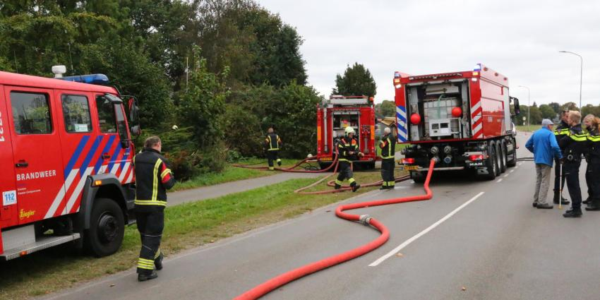 Brand in leegstaad pand in Emmen