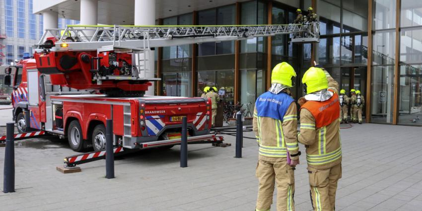 Brand in hotelkelder Weena Rotterdam