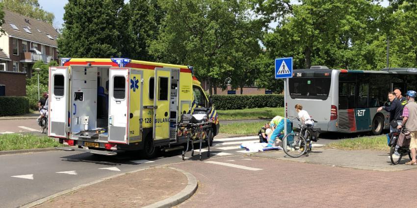 Foto van hulpverleners bij ongeval