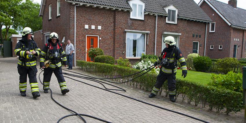 Foto van schuurbrand Boxtel | Persburo Sander van Gils | www.persburausandervangils.nl