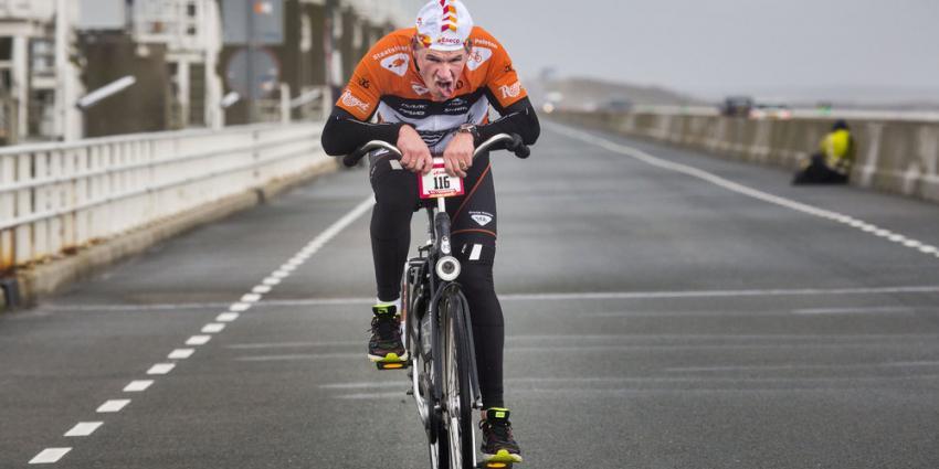 Nederlands Kampioenschap Tegenwindfietsen in herfststorm