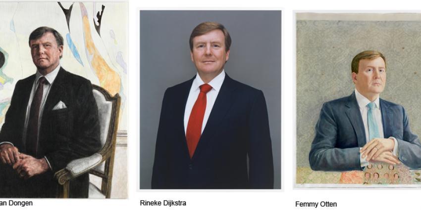 Foto van staatsieportretten koning Willem Alexander