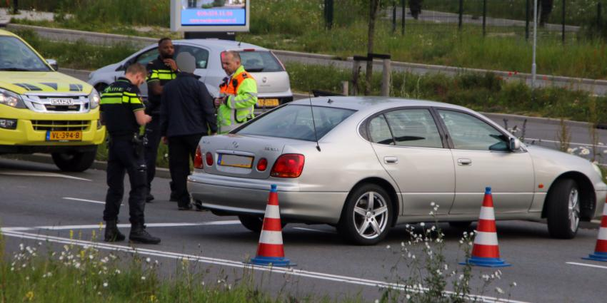 Foto van woordenwisseling na ongeval