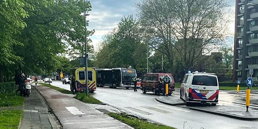 Politie en ambulance op plaats ongeval