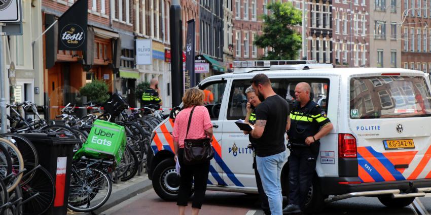 Foto van steekpartij Albert Cuypstraat