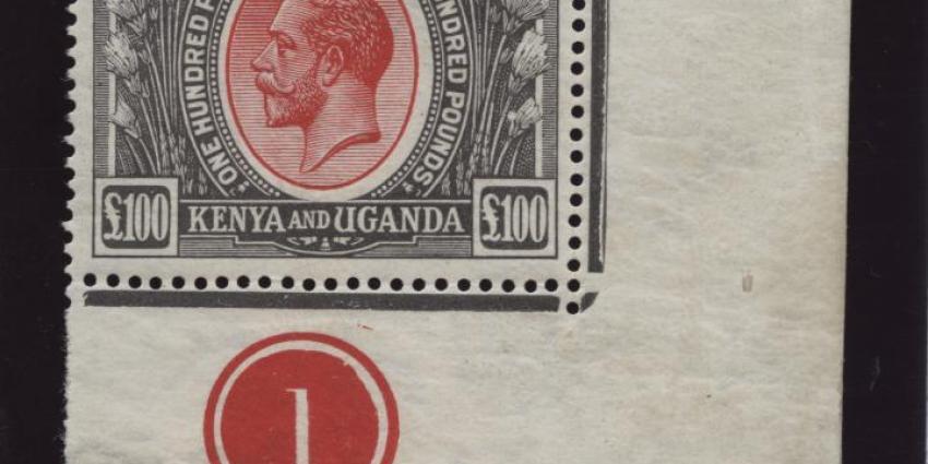 Foto van duurste postzegel ooit in Nederland onder de hamer