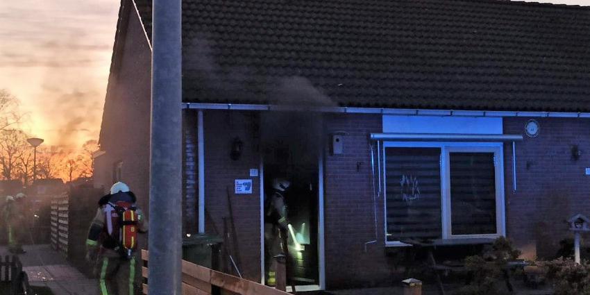 Woningbrand in Klazienaveen