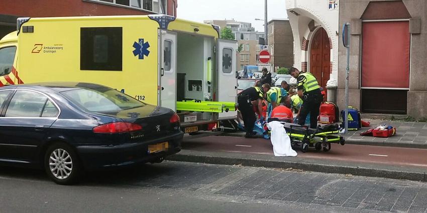 Bestuurder scooter gereanimeerd in Groningen