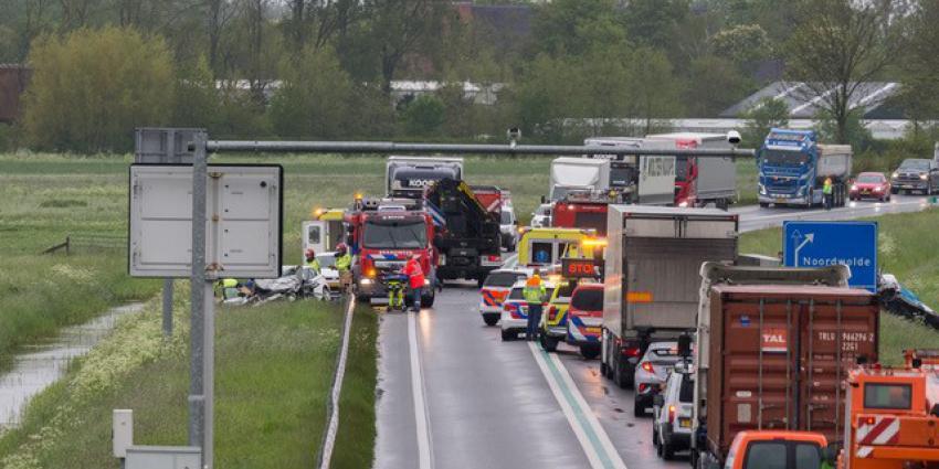 N46 volledig afgesloten door ongeval