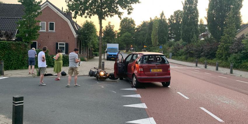Ongeval tussen motor en auto