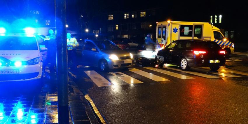 Bestuurder scooter gewond bij aanrijding in Groningen