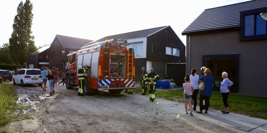 Brandende gasfles in Boxtel