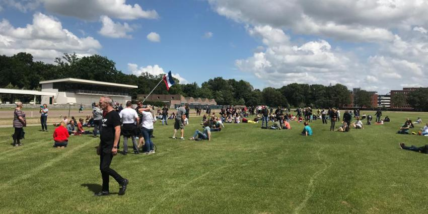 Demonstratie op Drafbaan in Groningen