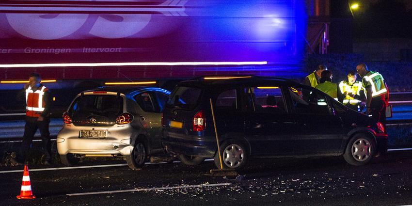 Meerdere gewonden bij aanrijding op A50