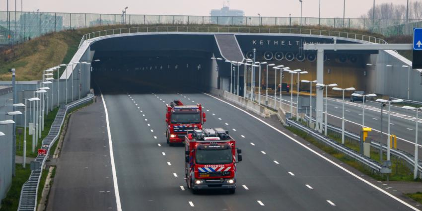 Ketheltunnel A4 dicht na ongeval