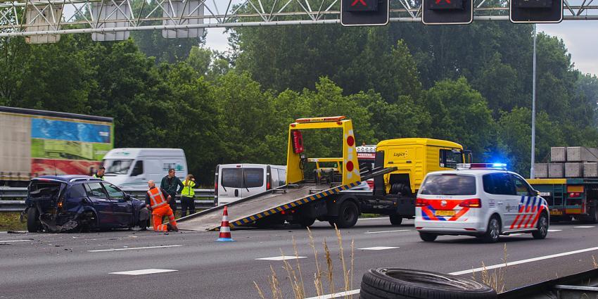 linke vertraging na ongeval met meerdere voertuigen op snelweg A2 bij Liempde