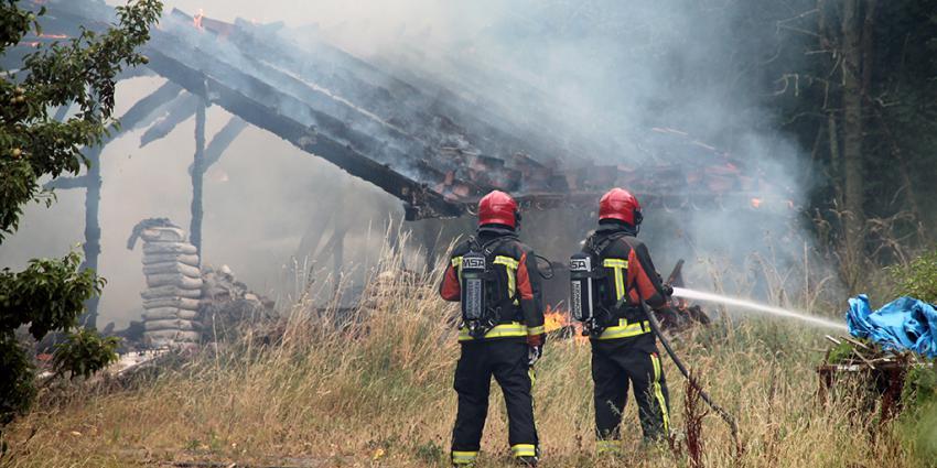 Vakantiewoning Termuntenzijl volledige afgebrand