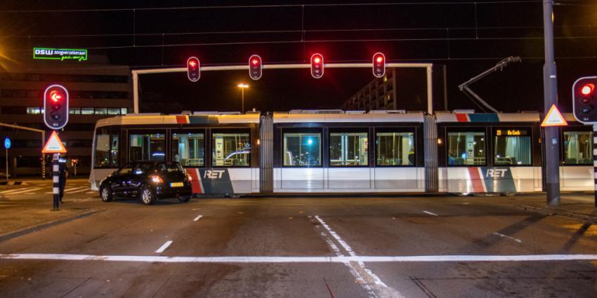 Aanrijding tussen tram en auto