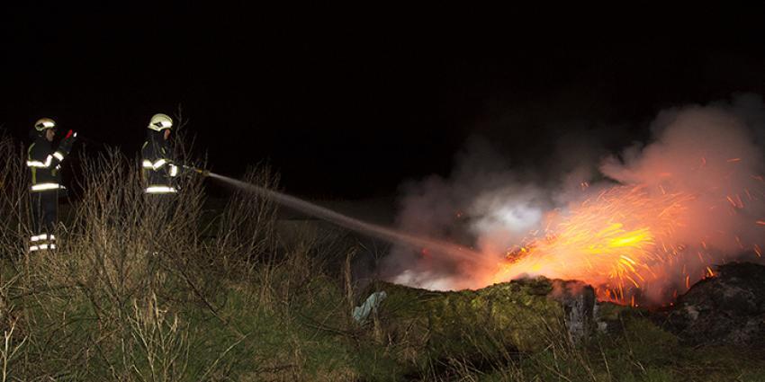 Brandweer urenlang bezig met smeulbrandje in Boxtel