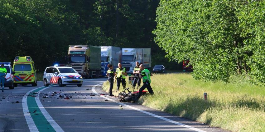Motorrijder komt om bij ongeval op N34