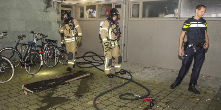 Brand in kelderbox van flat