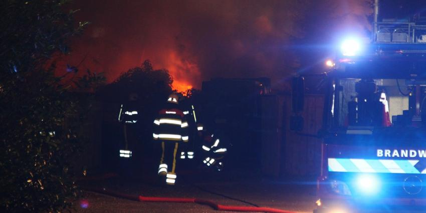 Foto van grote brand op camping   Willy Smits   www.112journaal.nl