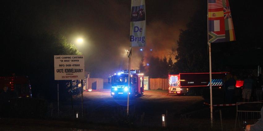 Foto van grote brand op camping | Willy Smits | www.112journaal.nl
