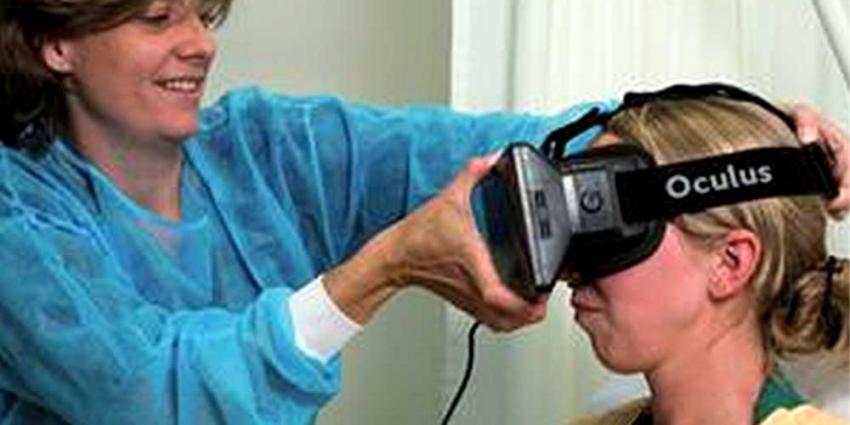Brandwondencentrum Martini Ziekenhuis test virtual realitybril tegn pijn