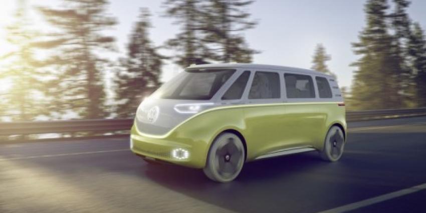 VW introduceert haar nieuwe bestelbus de microbus de I.D. BUZZ