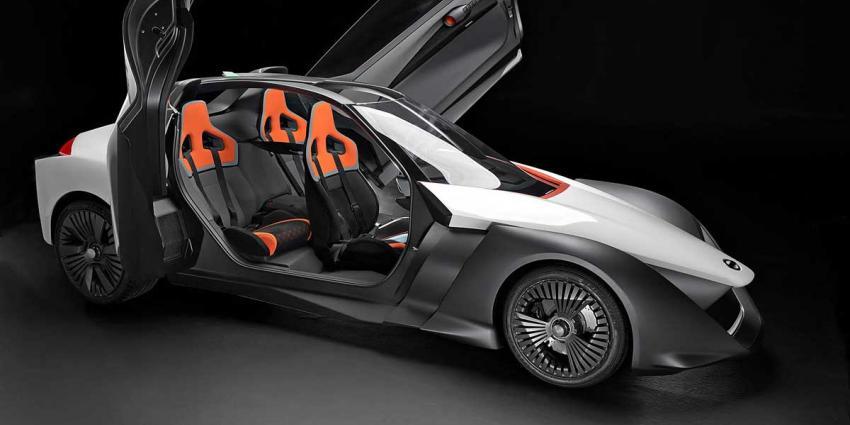 Elektrisch prototype Nissan BladeGlider op Spelen in Rio de Janeiro