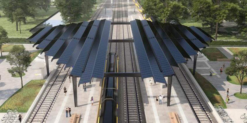 Delft krijgt eerste energieneutrale treinstation van Nederland