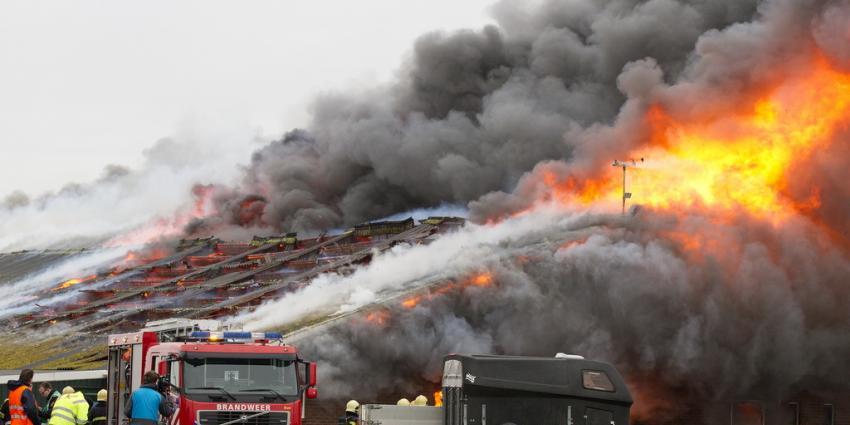 40.000 kippen komen om bij schuurbrand Veendam