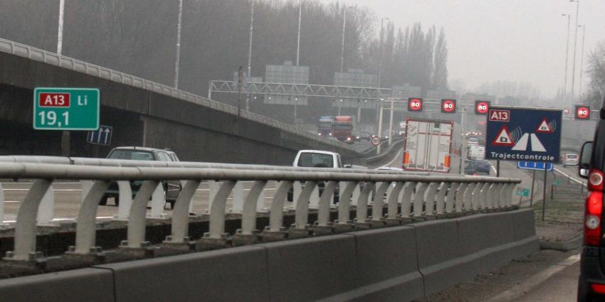 A13 blijft drukste rijksweg, regio Utrecht het drukst