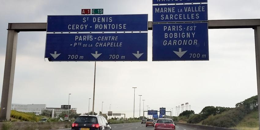 Dieven slaan hun slag op A1 bij Parijs