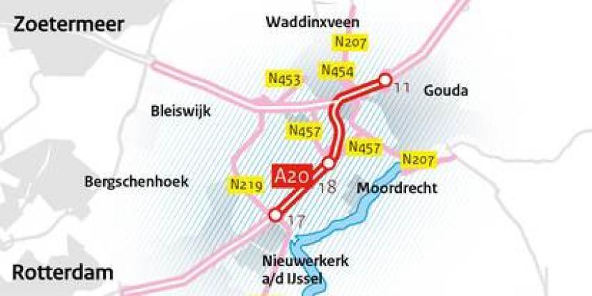 Schultz start aanpak fileknelpunt A20 Nieuwerkerk a/d IJssel - Gouda