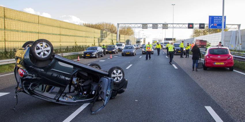 Gewonde bij ongeval op A20