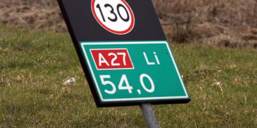 A27 richting Gorinchem/Breda dicht